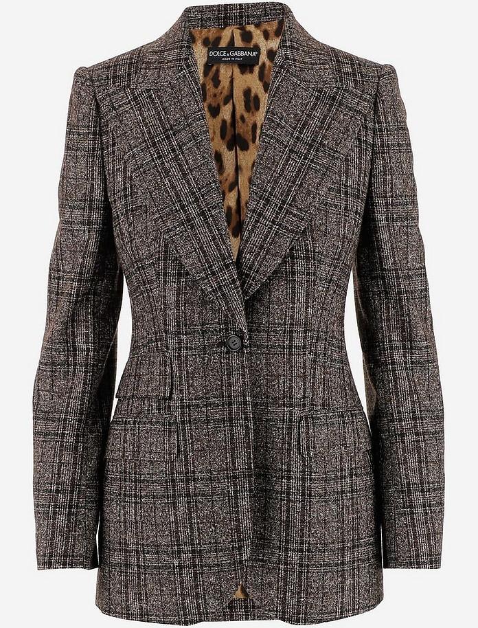 Wool And Alpaca Jacket Women's Blazer - Dolce & Gabbana
