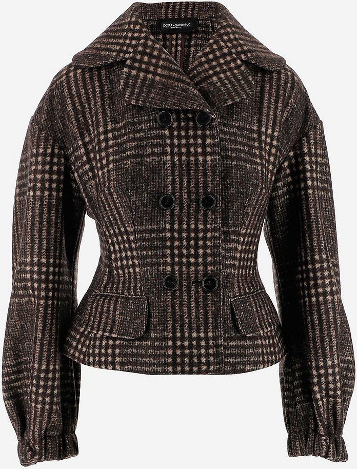 Double-Breasted Wool & Aplaca Women's Jacket - Dolce & Gabbana