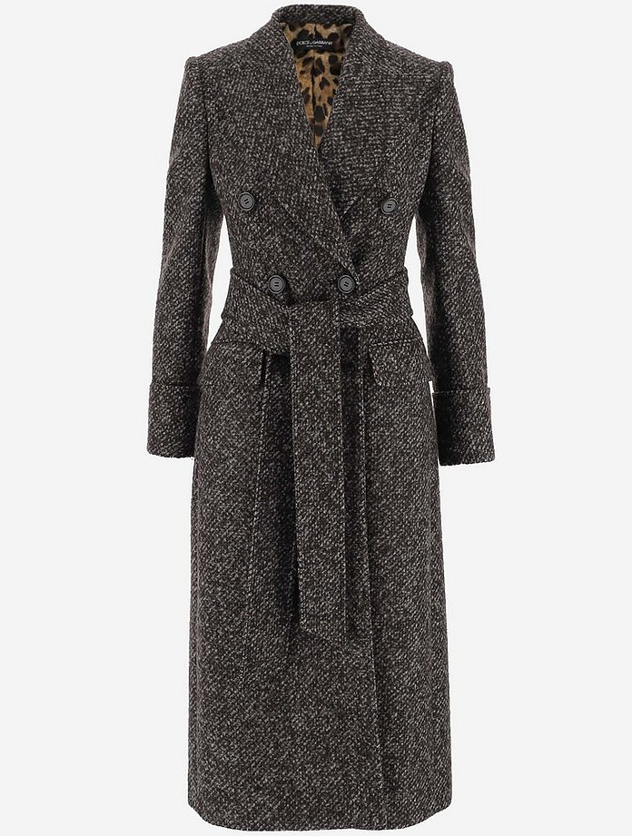 Double-Breasted Midi Women's Coat - Dolce & Gabbana