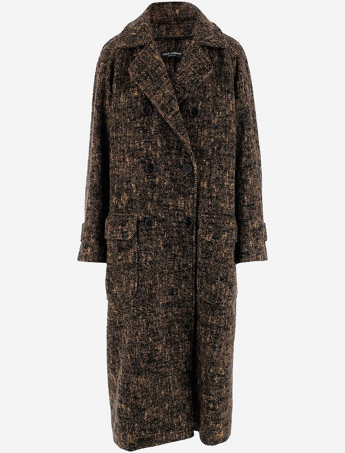 Double-Breasted Oversized Women's Coat - Dolce & Gabbana