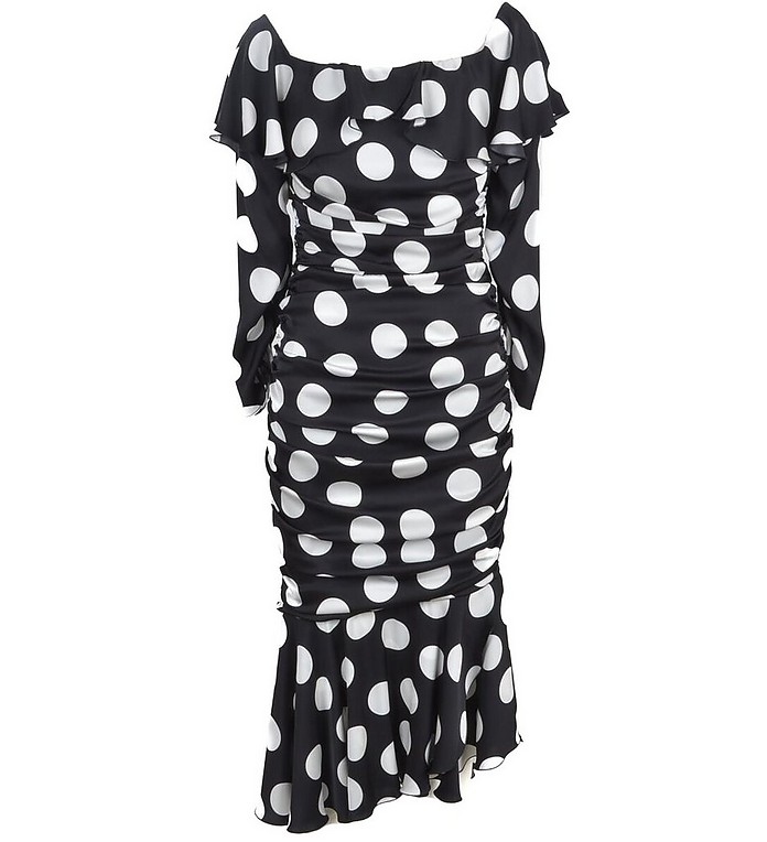 Women's White / Black Dress - Dolce&Gabbana