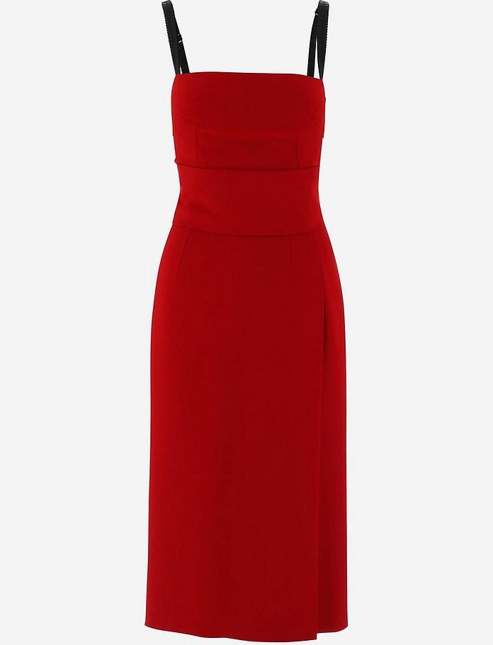 Red Stretch Cady Bustier Women's Dress - Dolce & Gabbana