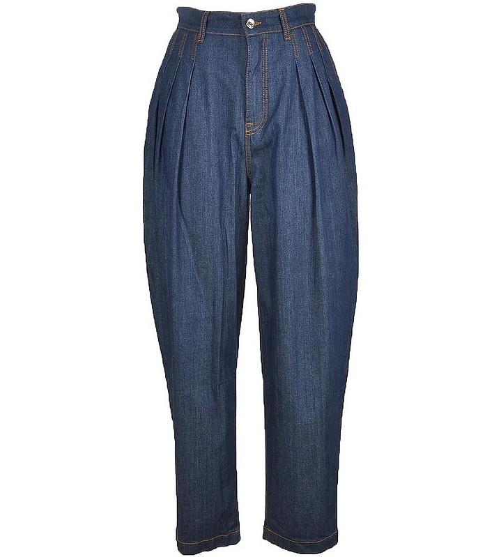 Women's Blue Pants - Dolce & Gabbana / ドルチェ&ガッバーナ