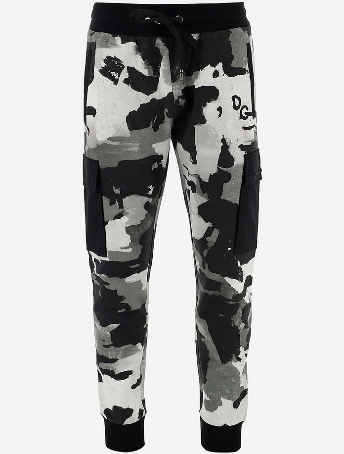 Camouflage Printed Cotton Men's Tracksuit  Pants - Dolce & Gabbana 杜嘉班纳