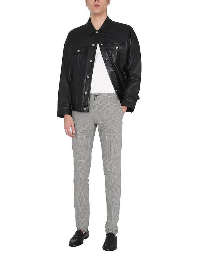 Pants With Pied De Poule Pattern - Dolce & Gabbana