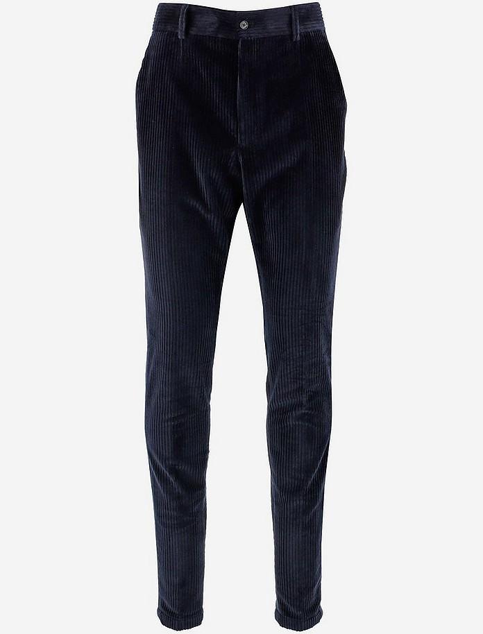Blue Corduroy Men's Pants - Dolce & Gabbana