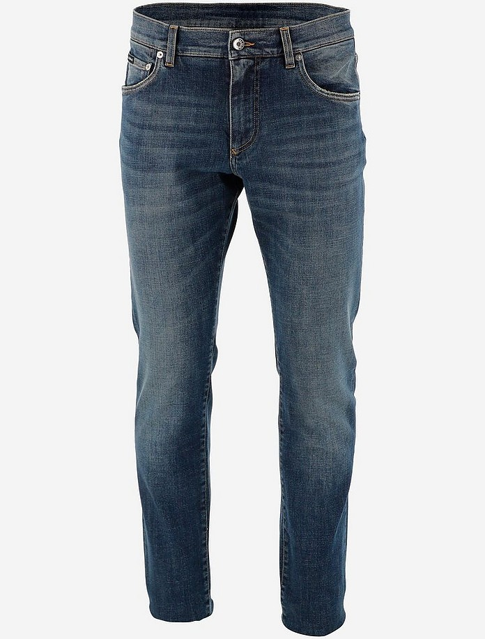 Medium Blue Denim Men's Jeans - Dolce & Gabbana