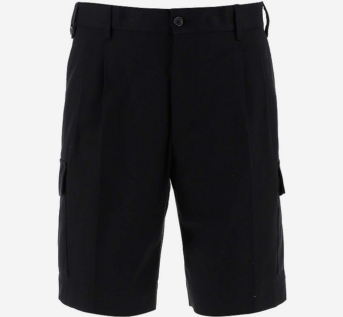 Black Men's Cargo Shorts - Dolce&Gabbana