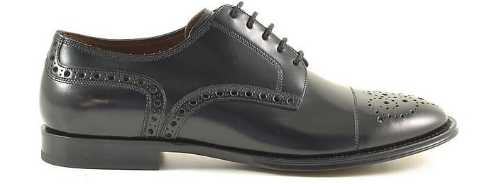 Black Leather Men's Derby Shoes - Dolce & Gabbana / ドルチェ&ガッバーナ
