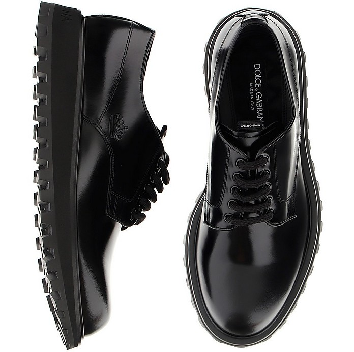 Black And Grey Lace-Ups - Dolce & Gabbana