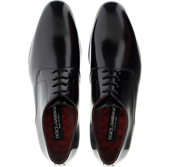 Black Leather Positano Lace-Ups - Dolce & Gabbana