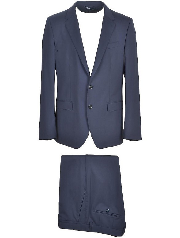 Blue Virgin Wool Blend Single Breasted Suit  - Dolce & Gabbana / ドルチェ&ガッバーナ
