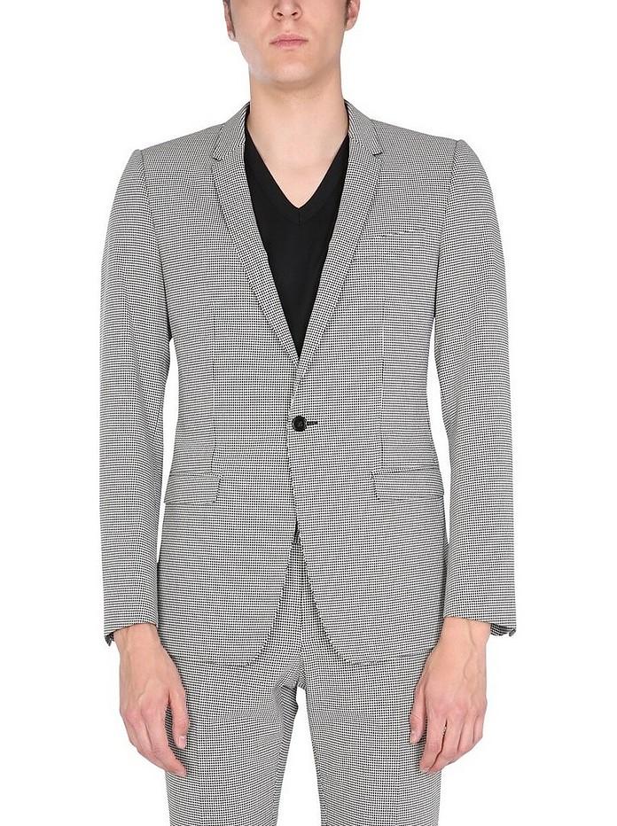 Jacket With Pied De Poule Pattern - Dolce & Gabbana