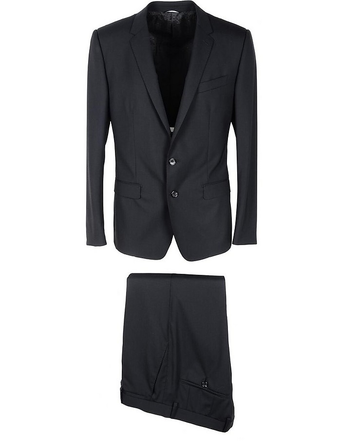 Black Virgin Wool Blend Single Breasted Suit  - Dolce & Gabbana / ドルチェ&ガッバーナ