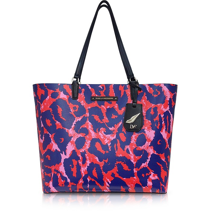 Heritage Animal Print Leather Tote - Diane Von Furstenberg