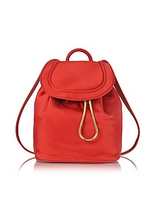 Satin Backpack w/Drawstring Flap Closure - Diane Von Furstenberg