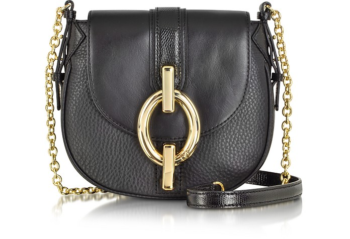 Sutra Mini Mixed Leather Crossbody Bag - Diane Von Furstenberg