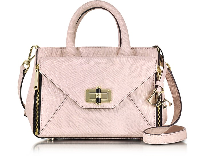 8e4f27721ed2 Pink Dust Shimmer Lizard Leather Mini Secret Agent Tote - Diane Von  Furstenberg