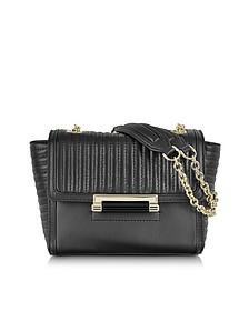 440 Mini Rail Quilt Black Leather Crossbody Bag