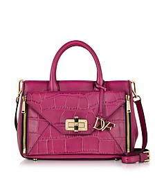 440 Gallery Double Agent Cherry Leather & Croco Print Small Tote