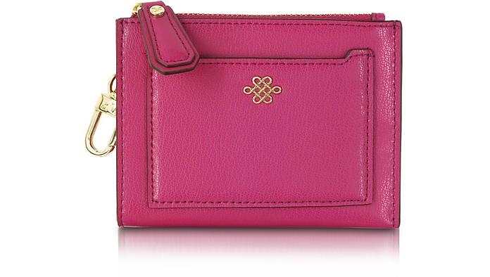 Good Fortune Fetish Pink Love Knot Mini Card Case - Diane Von Furstenberg