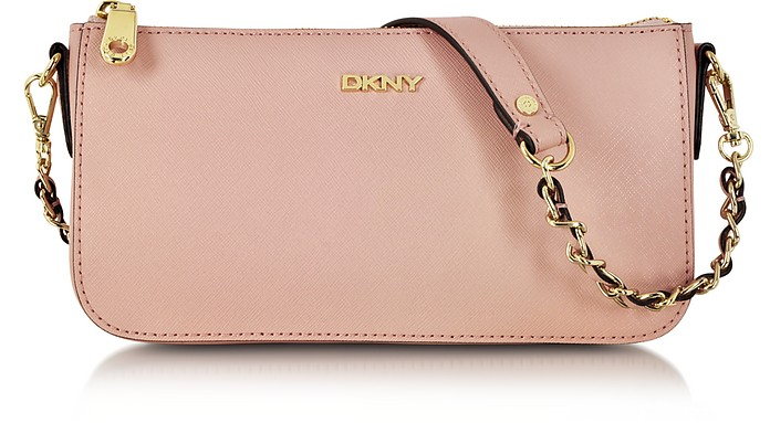 Bryant Park Blush Saffiano Leather Crossbody Bag - DKNY