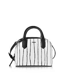Twine Stripe Mini Umhängetasche aus Leder mit Streifen - DKNY