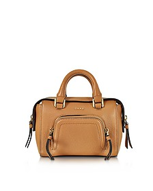 Chelsea Vintage Style Copper Leather Mini Satchel Bag - DKNY