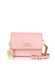 Bryant Park Mini Pink Saffiano Leather Crossbody Bag
