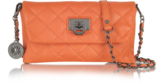 Gansevoort Quilted Nappa Small Leather Clutch - DKNY