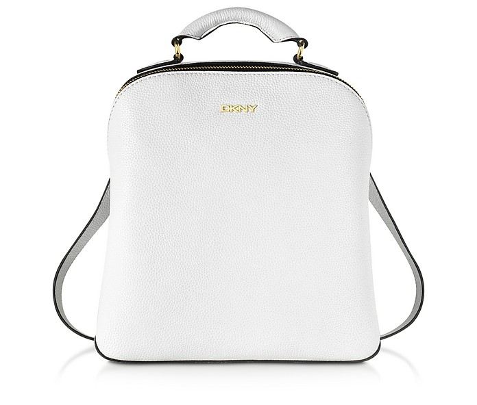 4d617f37e1a4 DKNY White Fine Pebble Leather Mini Backpack at FORZIERI Australia