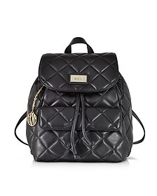 Gansevoort Black Quilted Nappa Leather Backpack