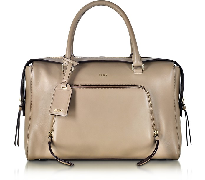 Greenwich Natural Leather Large Satchel Bag - DKNY