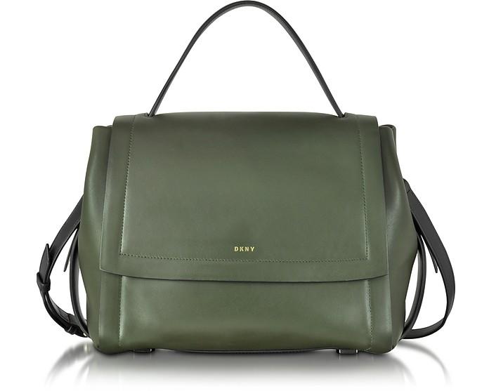 Greenwich Smooth Leather Shoulder Bag - DKNY