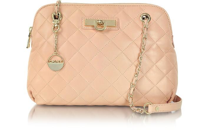 Light Pink Quilted Leather Shoulder Bag - DKNY