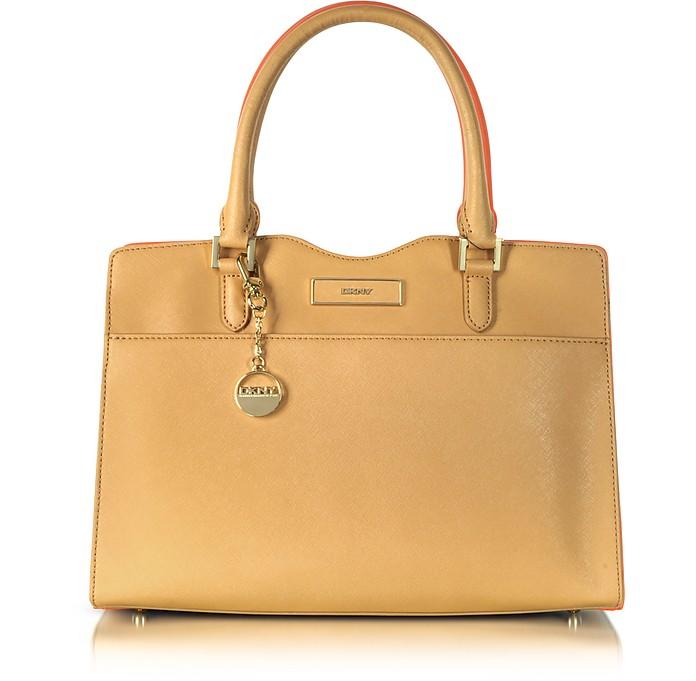 Saffiano Leather Signature Tote - DKNY