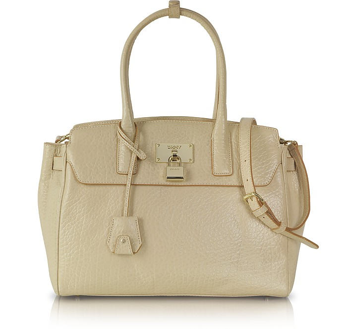 Sand Leather Satchel - DKNY
