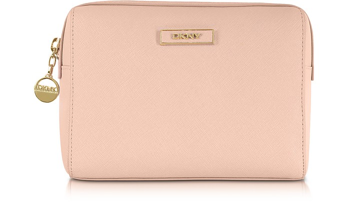 Saffiano Leather Cosmetic Case - DKNY