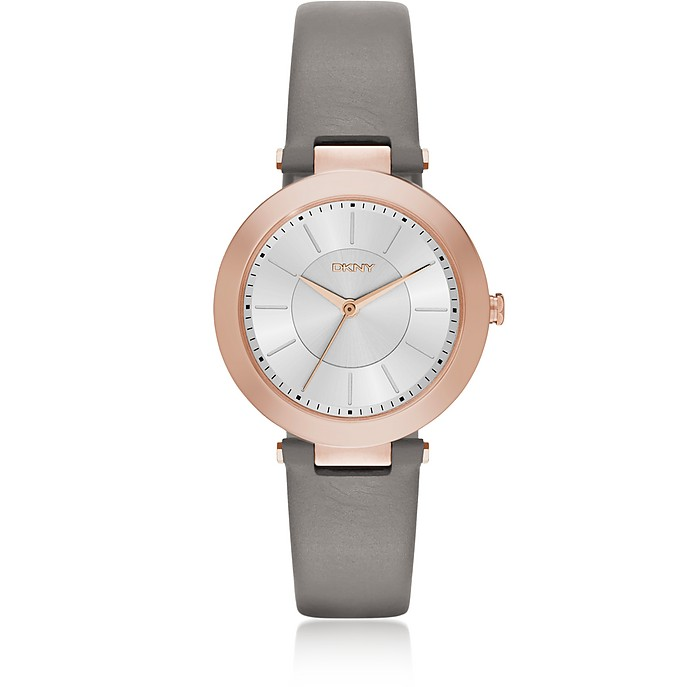 Stanhope Gray Leather Women's Watch - DKNY