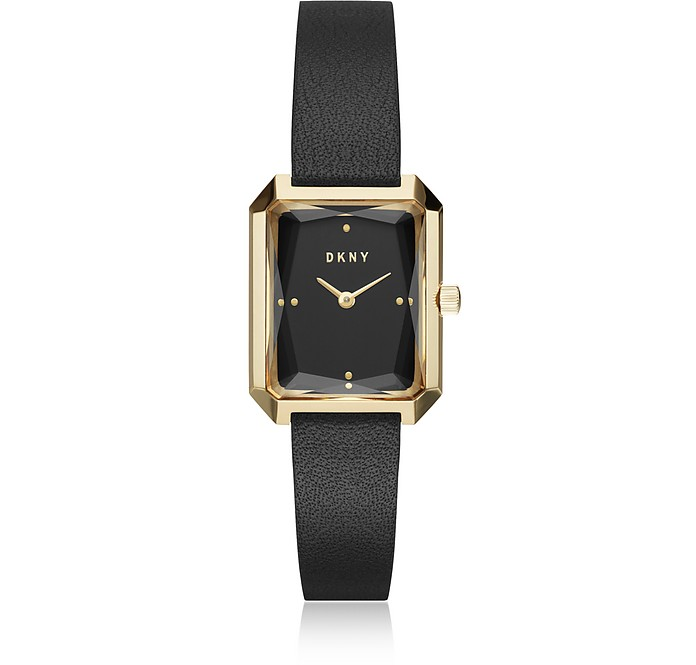 Cityspire Black Leather Women's Watch - DKNY