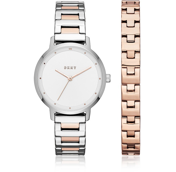The Modernist Two Tone Women's Watch and Bracelet Set - DKNY