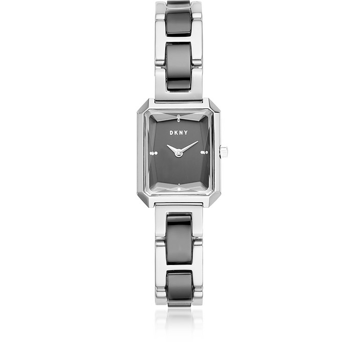 Cityspire Black IP and Silver Tone Women's Watch - DKNY