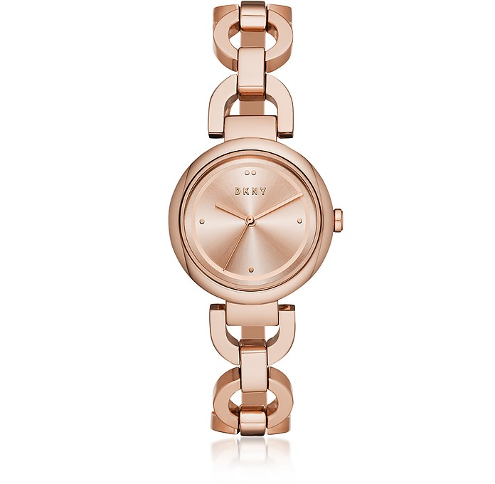 Eastside Rose Tone Stainless Steel Bracelet Watch - DKNY