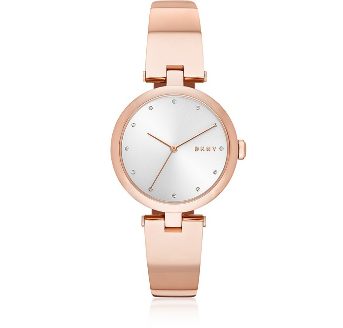 Eastside Rose Gold Tone Bangle Women's Watch - DKNY