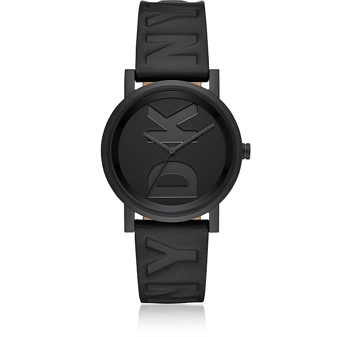 Soho Black Debossed Logo Watch - DKNY