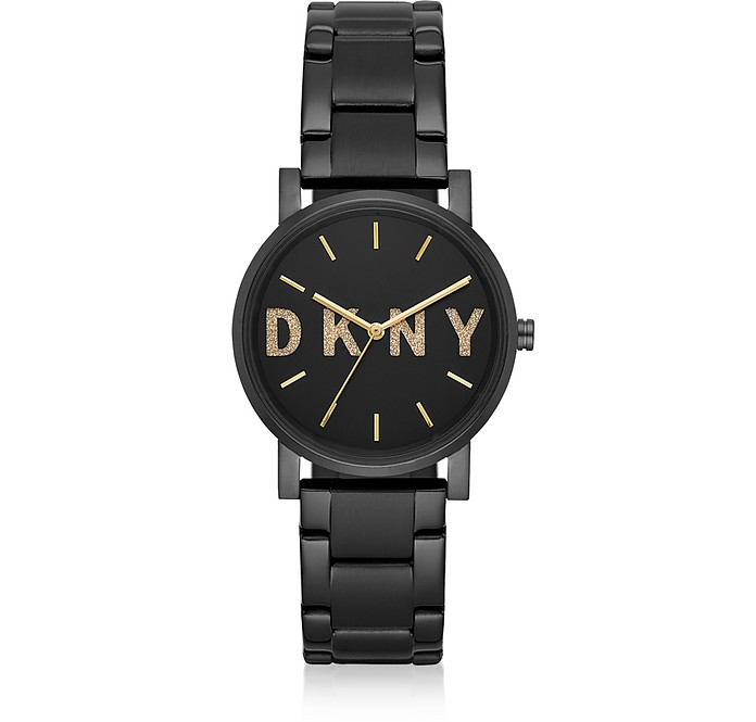 Soho Black Signature Glitz Watch - DKNY