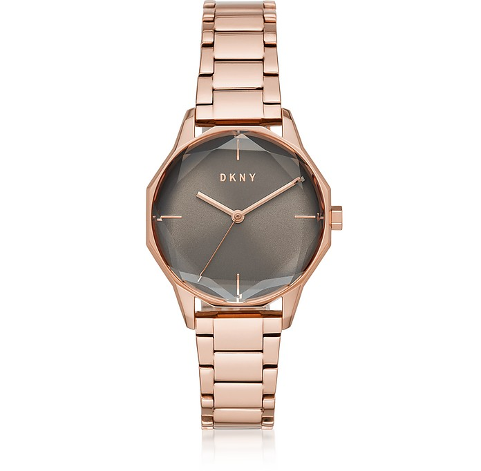 Cityspire Round Rose Gold Tone Stainless Steel Watch - DKNY