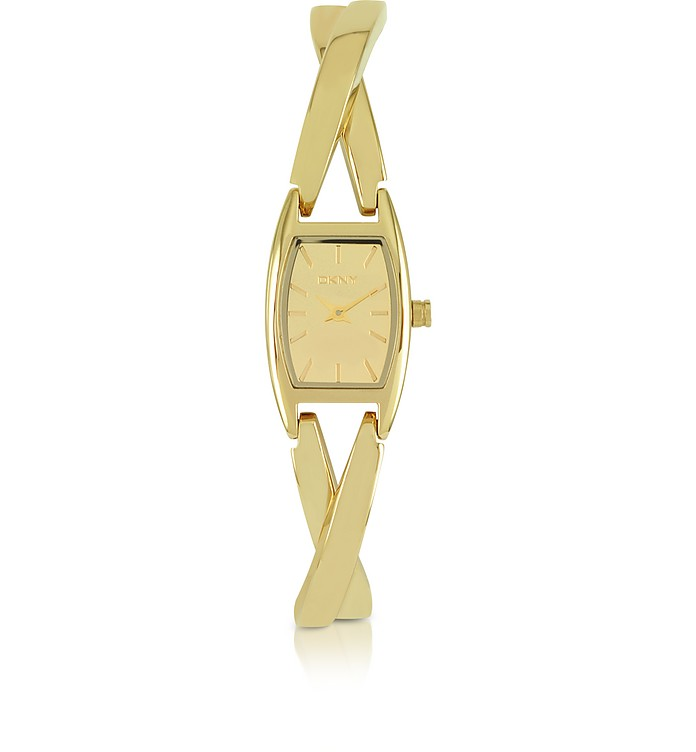 Crosswalk Gold Tone Crossover Stainless Steel Women's Watch - DKNY