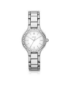 Chambers Stainless Steel Watch with Glitz