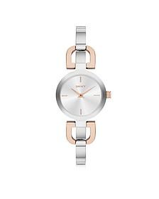 Reade Two Tone Stainless Steel Women's Watch - DKNY